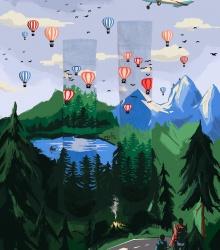 Kolorowe skarpetki - Adventure Balloon