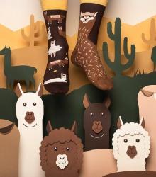 Kolorowe skarpetki - Fluffy Alpaca
