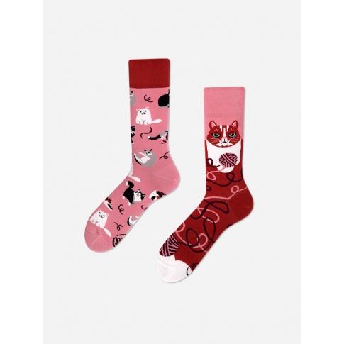 Kolorowe skarpetki - Playful Cat