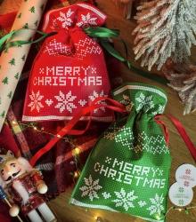 Świąteczny worek prezentowy - zielony