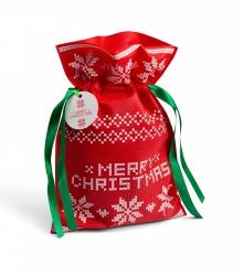 Świąteczny worek prezentowy - czerwony