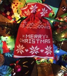 Świąteczny worek prezentowy - czerwony duży