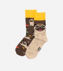 Kolorowe skarpetki - Pug Life