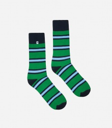 Kolorowe skarpetki - Stripes Green Blue