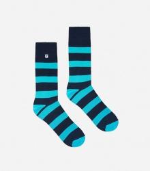 Kolorowe skarpetki - Stripes Dark Blue