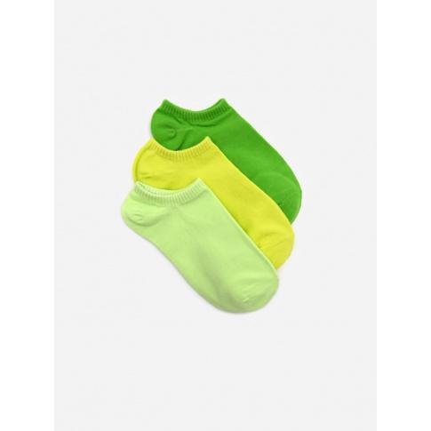Stopki damskie zielone / 3-pak
