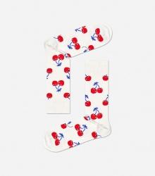 Skarpetki kremowe - Wiśnie
