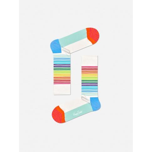 Skarpetki w kolorowe paski / tęczowe