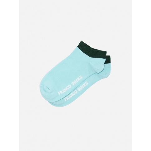 Kolorowe stopki damskie błękitne / zielony ściągacz