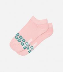 Kolorowe stopki damskie w kwiatki / różowe