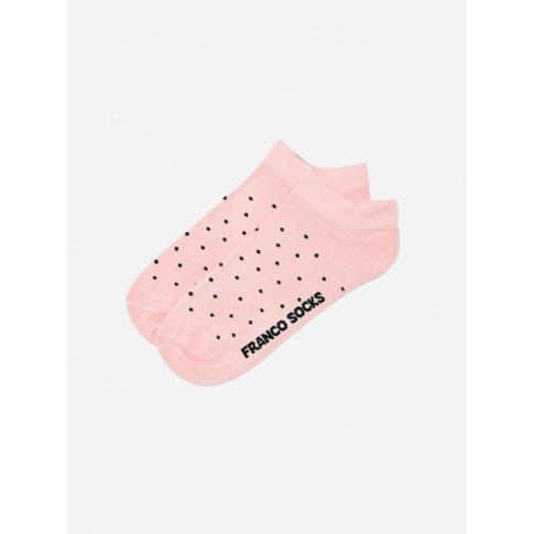Kolorowe stopki damskie w kropki / różowe