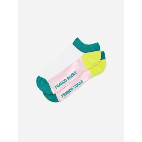 Kolorowe stopki damskie paseczki