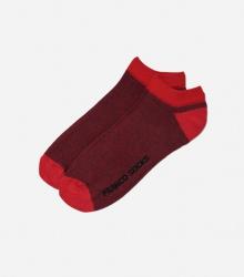 Kolorowe stopki męskie drobne paski / czerwone