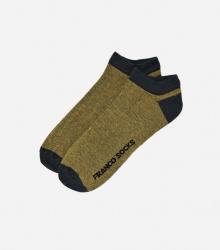 Kolorowe stopki męskie drobne paski / żółte