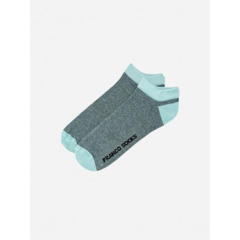 Kolorowe stopki męskie drobne paski / błękitne