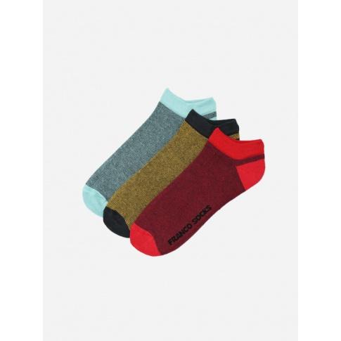 Kolorowe stopki trzy kolory drobne paski / 3-pak