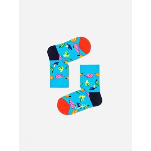 Skarpetki dla dzieci - banany / niebieskie