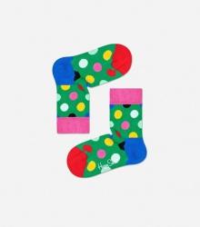 Skarpetki dla dzieci - kolorowe kropki / zielone