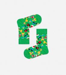 Skarpetki dla dzieci - świąteczne czapeczki / zielone