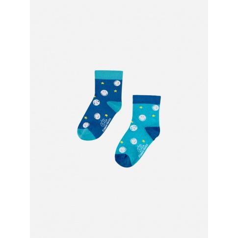 Skarpetki dla dzieci - Smile buźki / niebieskie