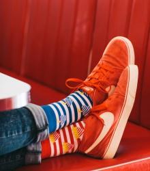Kolorowe skarpetki - Fries and Soda