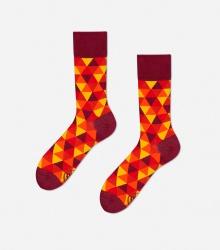 Kolorowe skarpetki - Flame Triangles